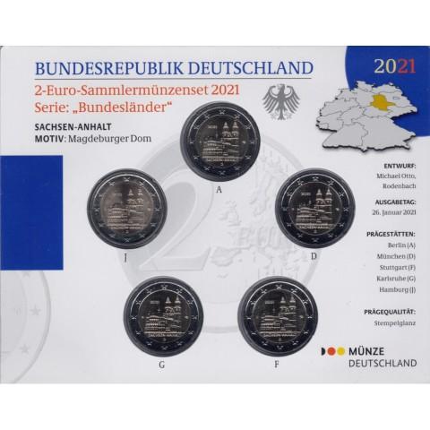 "2 Euro Germany ""ADFGJ"" 2021 - Sachsen-Anhalt (BU)"