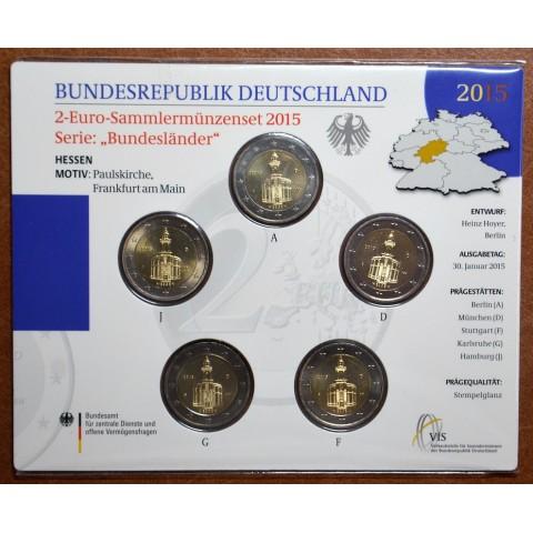"2 Euro Germany ""J"" 2015 - Hessen: St. Paul church (BU card)"