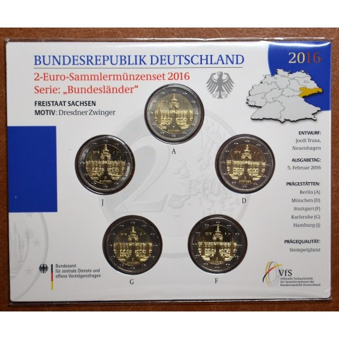 2 Euro Germany 2016 - Saxony: Dresden (BU card)