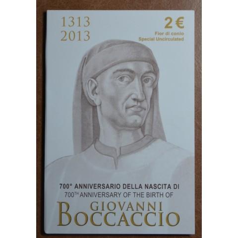 2 Euro Italy 2013 - 700th Anniversary of the Birth of Giovanni Boccaccio (BU)
