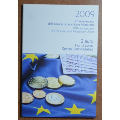2 Euro Italy 2009 - 10th Anniversary of the Introduction of the Euro (BU)