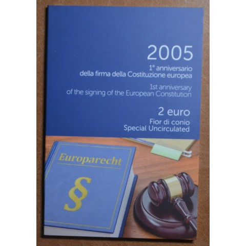 2 Euro Italy 2005 - 1st anniversary of the signing of the European Constitution (BU)