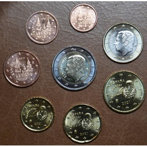 Set of 8 coins Spain 2021 (UNC)