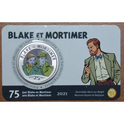 5 Euro Belgium 2021 Blake & Mortimer color (BU card)