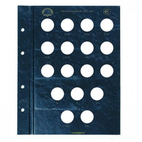 Treaty of Roma sheet into Leuchtturm Vista albums for 2 Euro coins 2007