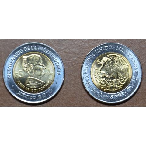 Mexico 5 Pesos Dominguez 2010 (UNC)