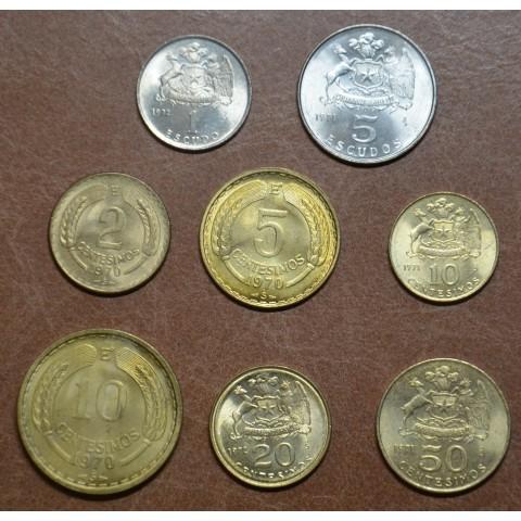 Chile 8 coins 1960-1972 (UNC)