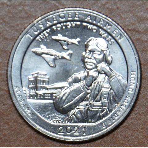 """25 cent USA 2021 Tuskegee Airmen """"D"""" (UNC)"""