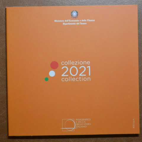 Italy 2021 set of 8 coins (BU)