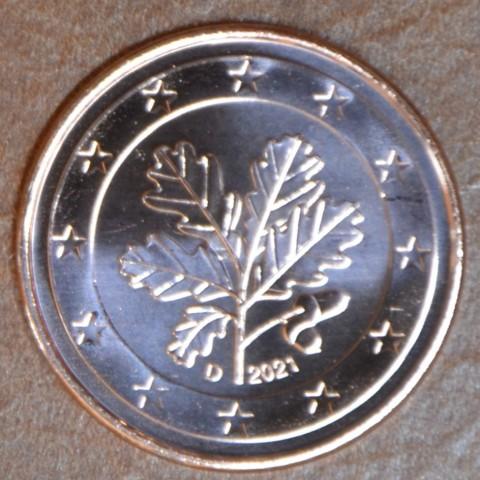 """1 cent Germany 2021 """"D"""" (UNC)"""