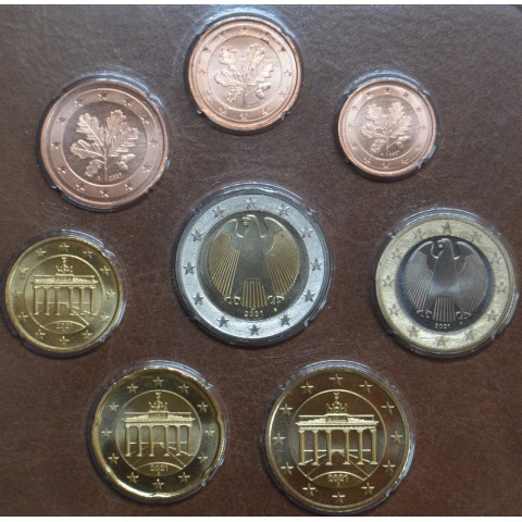 """Germany 2021 """"A"""" set of 8 coins (UNC)"""