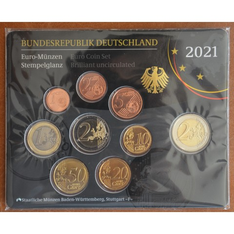 "Germany 2021 ""F"" set of 9 coins (BU)"