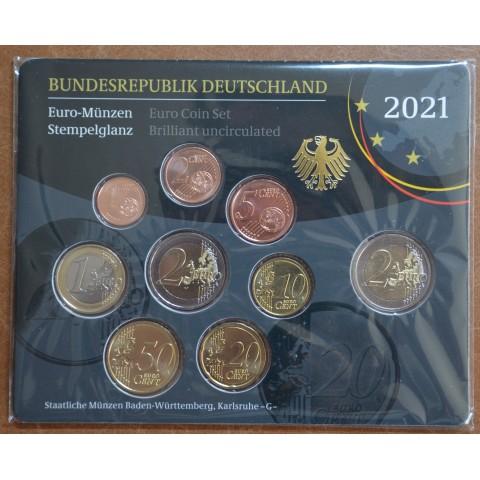"Germany 2021 ""G"" set of 9 coins (BU)"
