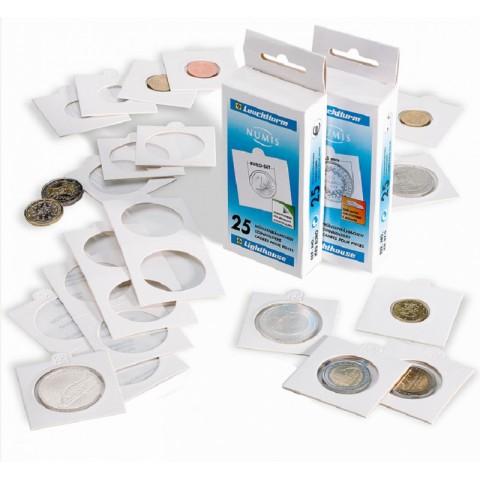 Leuchtturm white self-adhesive 2 Euro coin holder Matrix (10 pcs)