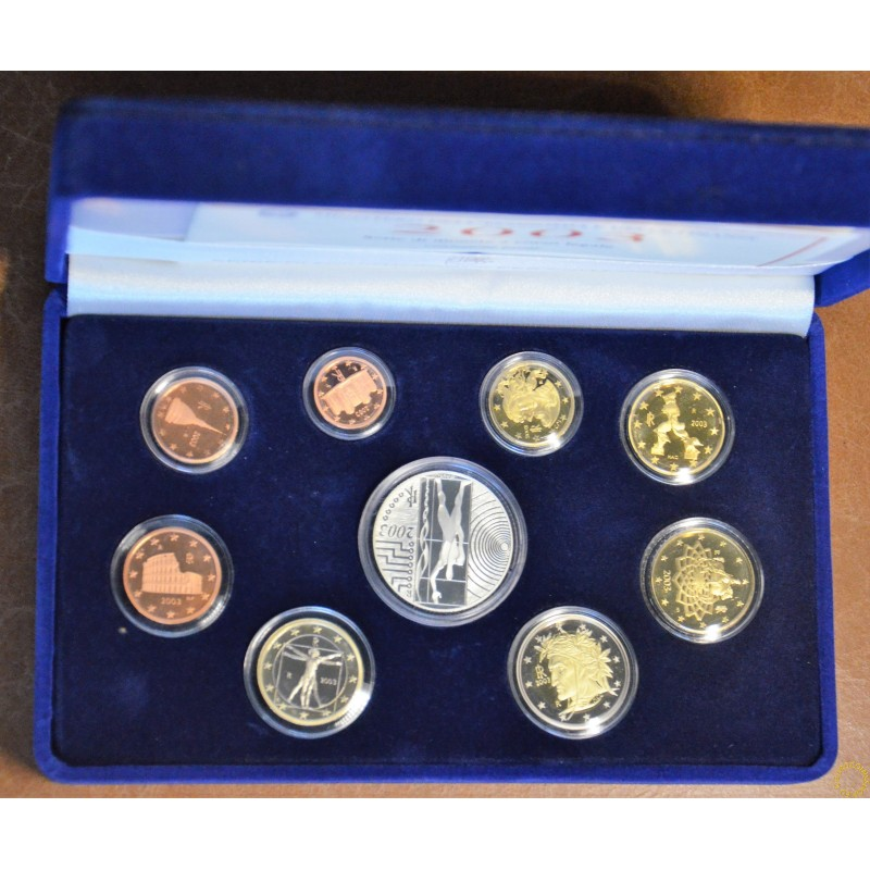 Italy 2003 official set with 5 Euro Ag coin (Proof)