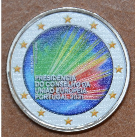 2 Euro Portugal 2021 - Portuguese Presidency of the Council of the European Union (colored UNC)