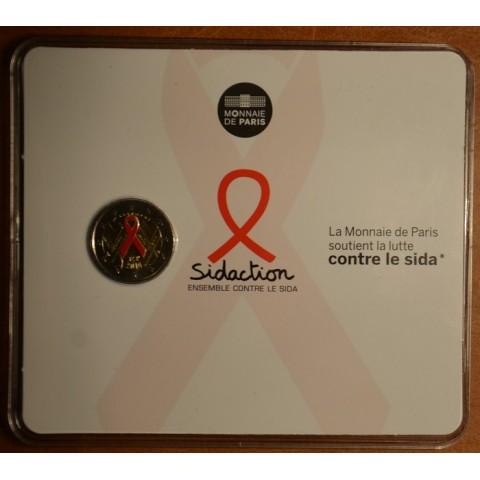 2 Euro France 2014 - World AIDS Day (BU card)