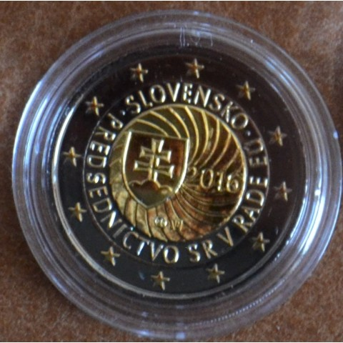 2 Euro Slovakia 2016 - EU presidency  (ruthenium-gold plated)