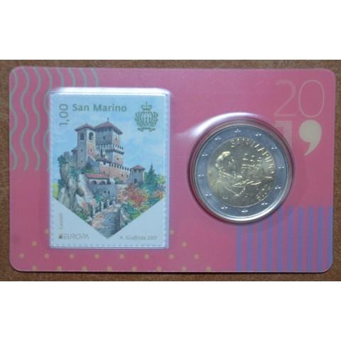 2 Euro San Marino 2019 - Saint Marinus (BU card with stamp)