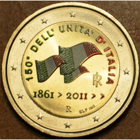 2 Euro Italy 2011 - 150th anniversary of unification of Italy II.  (colored UNC)