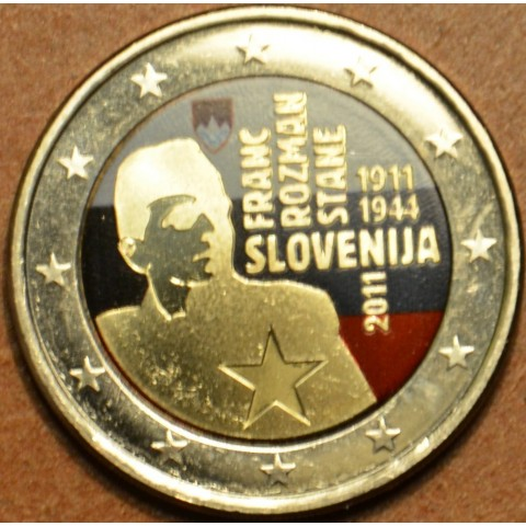 2 Euro Slovenia 2011 - 100th anniversary of the birth of Franc Rozman II.  (colored UNC)