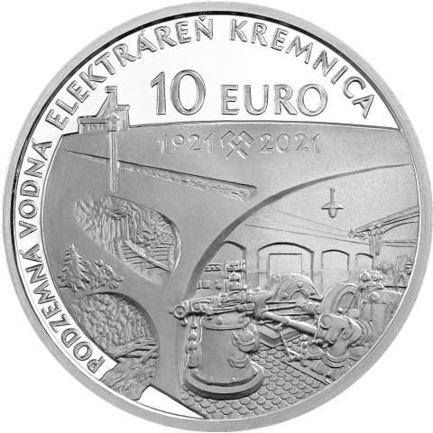 10 Euro Slovakia 2021 - Hydroelectric power plant in Kremnica (Proof)