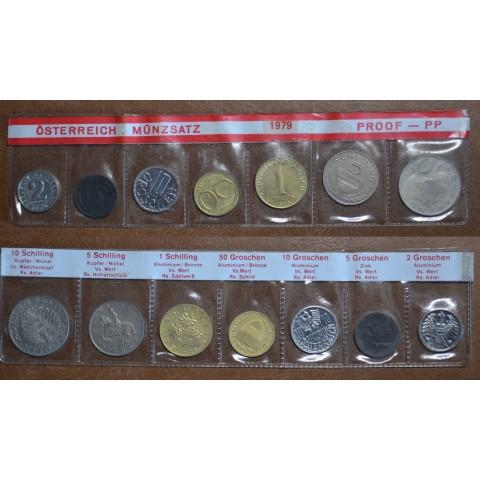 Austria 1979 set of 7 schilling coins (UNC)
