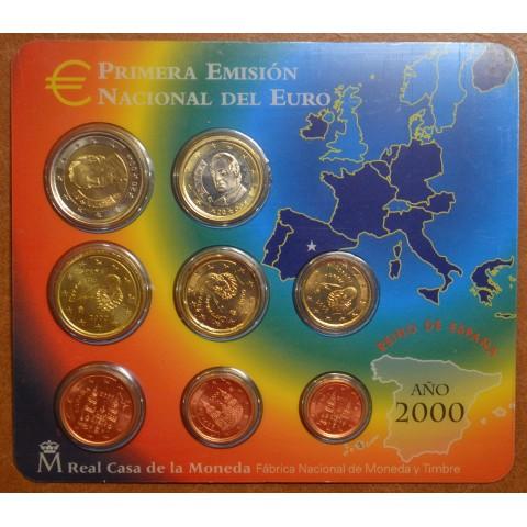 Set of 8 coins Spain 2000 (BU)