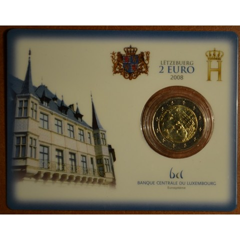2 Euro Luxembourg 2008 - Grand-Duke Henri and the 'Château de Berg' (BU card)