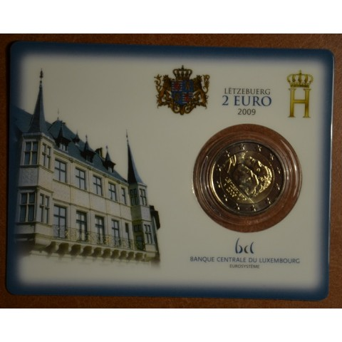 2 Euro Luxembourg 2009 - 90th Anniversary of Grand Duchess Charlotte's Accession to the Throne (BU)