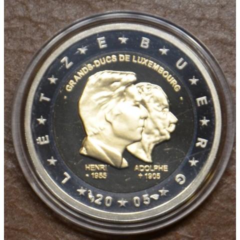 2 Euro Luxembourg 2005 - 50th birthday of Grand Duke Henri... (Proof)