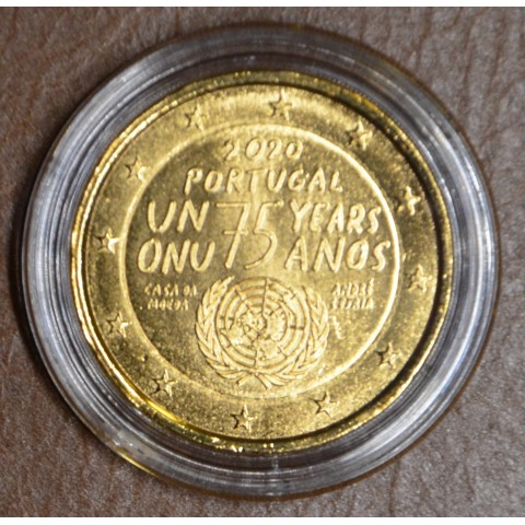 2 Euro Portugal 2020 - 75 years United Nations (gold plated UNC)