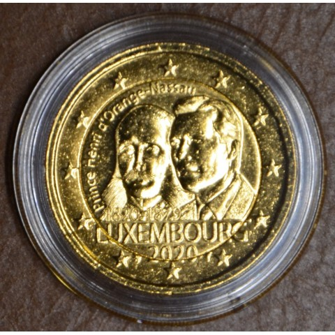 """2 Euro Luxembourg 2020 with mintmark """"lion"""" -  Prince Henry d'Orange-Nassau (gold plated UNC)"""
