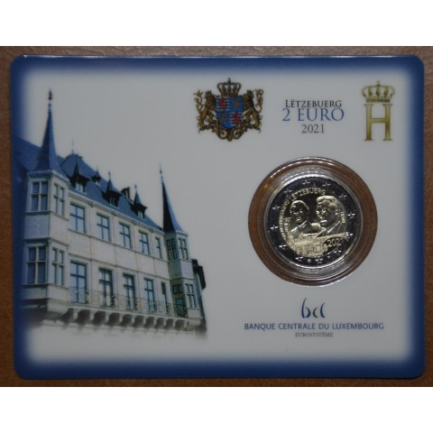 "2 Euro Luxembourg 2021 -  100th Birthday of Grand Duke Jean mintmark ""Lion"" (UNC)"
