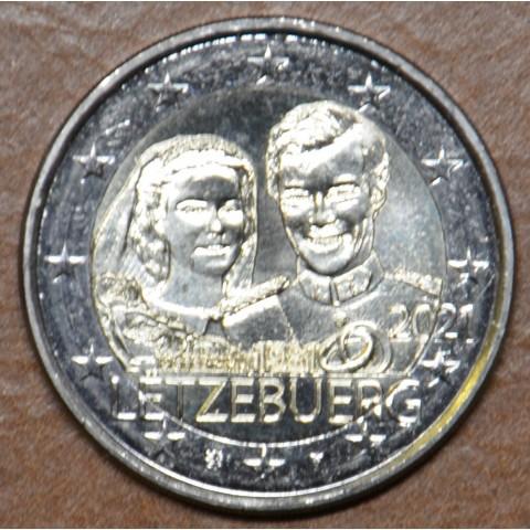 2 Euro Luxembourg 2021 - 40th Wedding Anniversary of Maria Teresa and Henri version 1 (UNC)