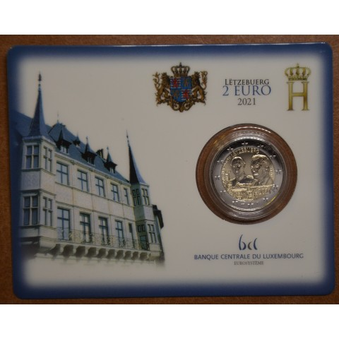 2 Euro Luxembourg 2021 - 100th Birthday of Grand Duke Jean mintmark bridge (BU)