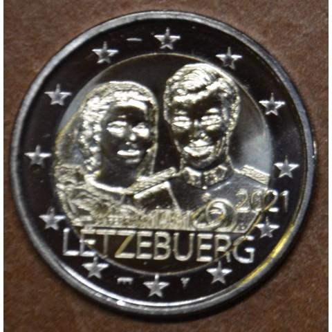 2 Euro Luxembourg 2021 - 40th Wedding Anniversary of Maria Teresa and Henri bridge mintmark (UNC)