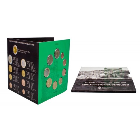Spain 2021 set of 9 coins (BU)