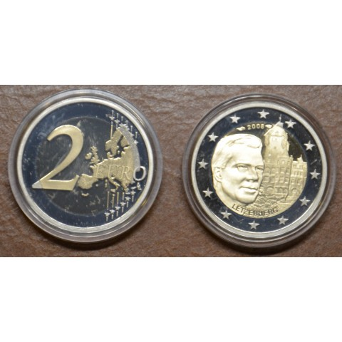 2 Euro Luxembourg 2008 - Grand-Duke Henri and the 'Château de Berg' (Proof)