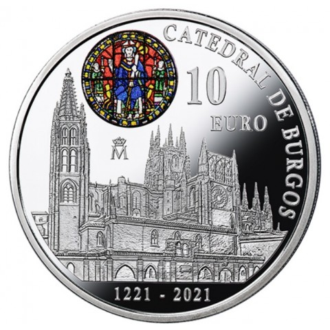 10 Euro Spain 2021 - Burgos Cathedral (Proof)