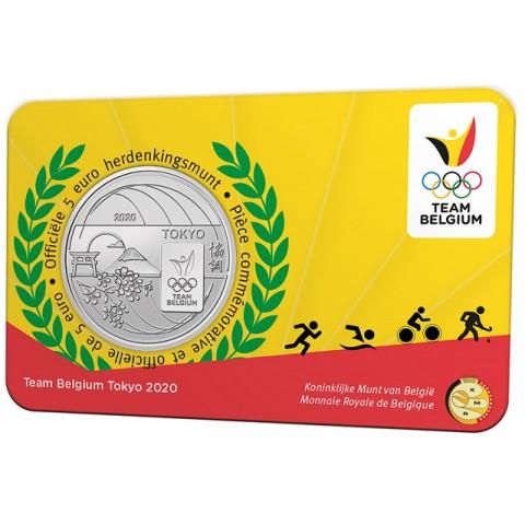 5 Euro Belgium 2021 Tokyo Team 2000 (BU card)