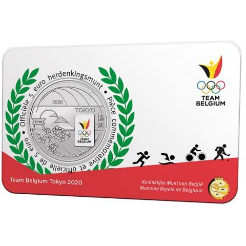 5 Euro Belgium 2021 Tokyo Team 2000 color (BU card)