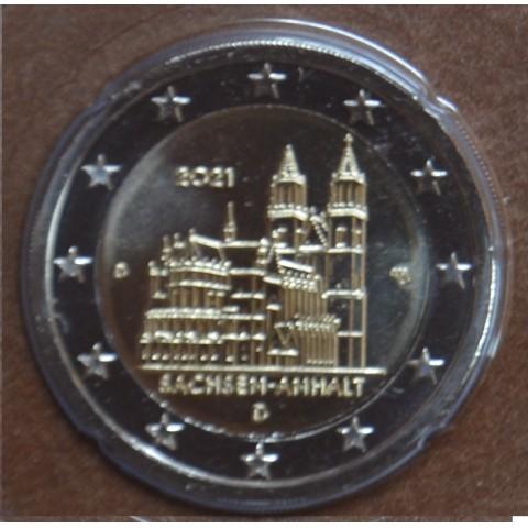 """2 Euro Germany """"D"""" 2021 - Sachsen-Anhalt (UNC)"""