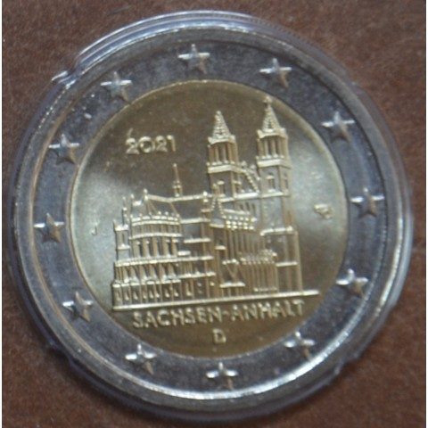 "2 Euro Germany 2021 ""J"" - Sachsen-Anhalt (UNC)"