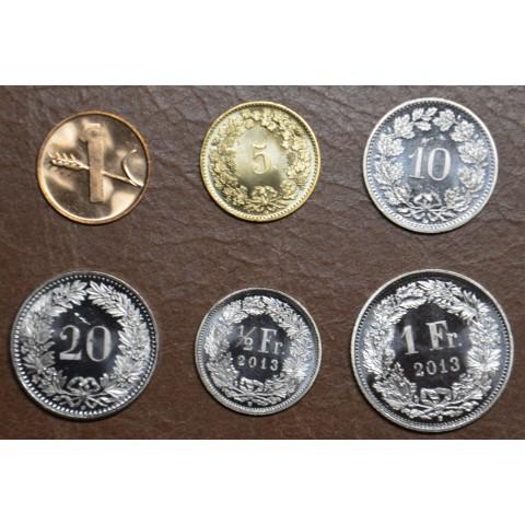 Switzerland 6 coins 1970-2010 (UNC)