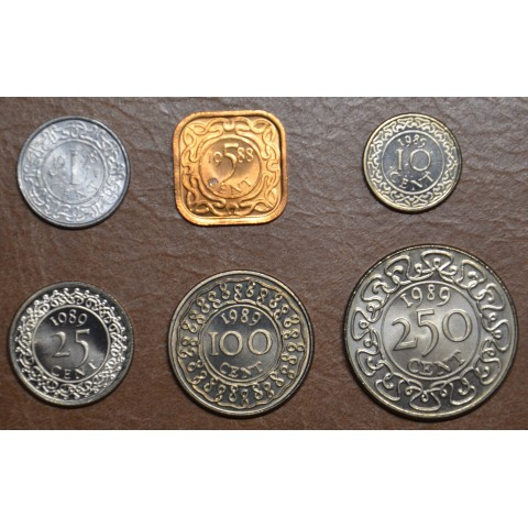 Suriname 6 coins 1972-2015 (UNC)
