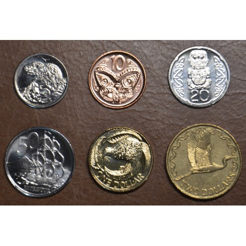 New Zealand 6 coins 1999-2015 (UNC)
