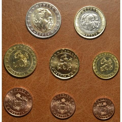 Set of 8 eurocoins Monaco 2001 (UNC)