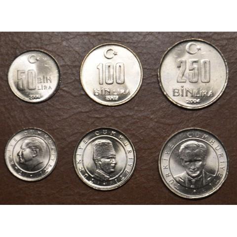Turkey 3 coins 2002-2004 (UNC)