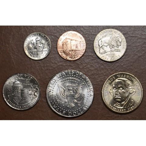 USA 6 coins 1971-2017 (UNC)